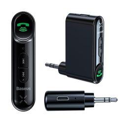 Baseus Qiyin Bluetooth audio vevő AUX mini jack az autó fekete (WXQY - 01)
