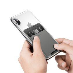 Baseus hátsó bot szilikon kártya táska Sötétszürke (ACKD - A0G) telefon tok telefontok