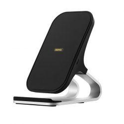 Remax Fast 10W Qi vezeték nélküli töltési állvány asztali tartó fekete (fekete RP-W12)
