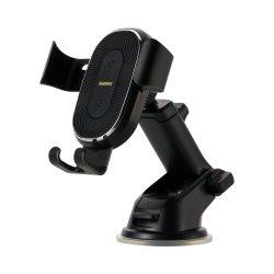 Remax vezeték nélküli (wireless) Qi töltő 10W Gravity Autós tartó Phone Holder állítható kar fekete (RM - C37) tok telefon tok hátlap