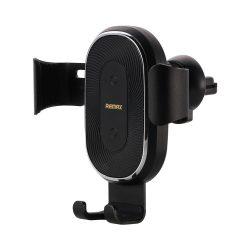 Remax vezeték nélküli töltő Gravity Autós tartó Phone Bracket Air Vent Holder + Qi töltő 10W fekete (RM - C38) tok telefon tok hátlap