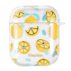 Kingxbar AirPods Case Szilikon védő doboz AirPods fejhallgató Lemon tok telefon tok hátlap