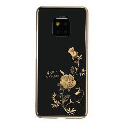 Kingxbar Flower széria tok díszített eredeti Swarovski kristályok Huawei Mate 20 Pro rózsa arany telefon tok telefontok