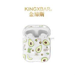 Kingxbar Fruit Airpods tok fólia AirPods 2 / AirPods 1 átlátszó tok