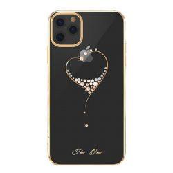 Kingxbar Wish sorozat tok díszített eredeti Swarovski kristályokkalkalkal iPhone 11 Pro Max arany telefontok hátlap tok