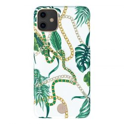 Kingxbar Luxury Series tok Eredeti Swarovski kristályokkal díszített iPhone zöld 11 tok telefon tok hátlap