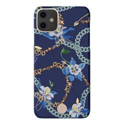 Kingxbar Luxury Series tok Eredeti Swarovski kristályokkal díszített kék iPhone 11 tok telefon tok hátlap