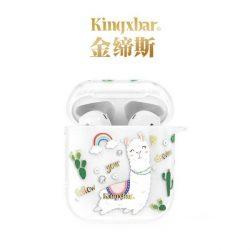 Kingxbar Adorkable Airpods tok AirPods 2 / AirPods 1 átlátszó telefontok hátlap tok