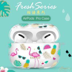 Kingxbar Friss Airpods tok fólia AirPods Pro átlátszó telefontok hátlap tok