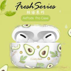 Kingxbar Fruit Airpods tok fólia AirPods 2 / AirPods 1 átlátszó telefontok hátlap tok