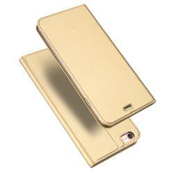 DUX DUCIS Skin Pro Könyvtartó típusú tok iPhone 6S / 6 arany tok telefon tok hátlap