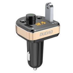Dudao Bluetooth FM Transmitter MP3 autós töltő 2 USB 3.4A fekete (R2Pro fekete)