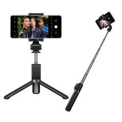 Huawei 2w1 AF15 Pro szelfi selfie Stick + Állvány Teleszkópos állvány Bluetooth fekete