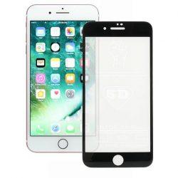 IPHONE 7 8 PLUS - edzett üveg üvegfólia 0.3mm 5D Fekete