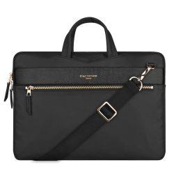 """Elegáns laptop táska 13,3"""" - os Cartinoe London stílus széria Fekete"""