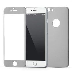 Wozinsky edzett üveg szélig kerettel és alumínium hátlap tok telefontok az iPhone 6S / 6 fekete kijelzőfólia üvegfólia tempered glass