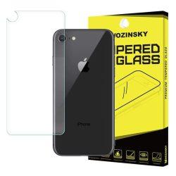 WOZINSKY edzett üveg 9H PRO + képernyővédő fólia iPhone 8/7 BACK kijelzőfólia üvegfólia tempered glass