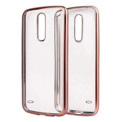 Metalic Vékony tok telefon tok hátlap LG K10 2017 M250n rózsaszín