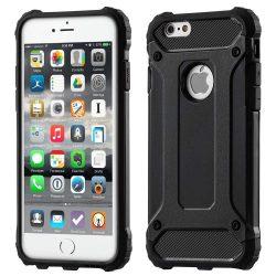 Hibrid Armor telefon tok telefontok Ütésálló Robusztus Cover iPhone 6S 6 fekete
