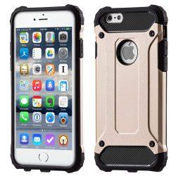 Hibrid Armor telefon tok hátlap tok Ütésálló Robusztus Cover iPhone 6S 6 arany