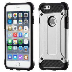 Hibrid Armor Case Kemény Robusztus Cover iPhone 6S 6 ezüst telefon tok telefontok
