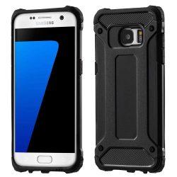 Hibrid Armor telefon tok hátlap tok Ütésálló Robusztus Cover Samsung Galaxy S7 Edge G935 fekete