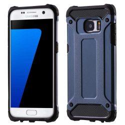 Hibrid Armor telefon tok hátlap tok Ütésálló Robusztus Cover Samsung Galaxy S7 Edge G935 sötétkék
