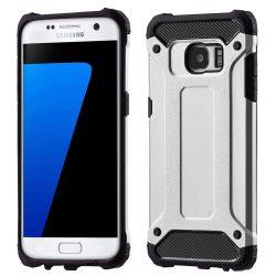 Hibrid Armor telefon tok hátlap tok Ütésálló Robusztus Cover Samsung Galaxy S7 Edge G935 ezüst