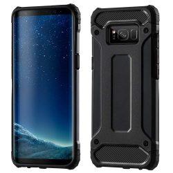Hibrid Armor telefon tok telefontok (hátlap) tok Ütésálló Robusztus Cover Samsung Galaxy S8 Plus G955 fekete