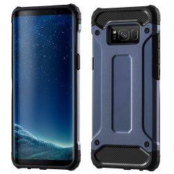 Hibrid Armor telefon tok telefontok (hátlap) tok Ütésálló Robusztus Cover Samsung Galaxy S8 Plus G955 sötétkék
