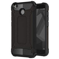 Hibrid Armor telefon tok hátlap tok Ütésálló Robusztus hátlap tok telefon tok Xiaomi redmi 4X fekete