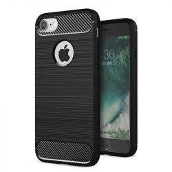 Carbon telefon tok telefontok (hátlap) rugalmas Cover TPU iPhone 8/7 fekete