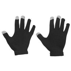 Univerzális Érintőképernyő Téli kesztyű csíkos kesztyű fekete