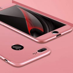 GKK 360 Protection telefon tok telefontok elöl és hátul teljes test tok telefon tok iPhone 7 Plus rózsaszín
