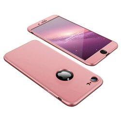 GKK 360 Protection telefon tok telefontok Első és hátsó az egész testet fedő Apple iPhone 8/7/SE 2020 rózsaszín