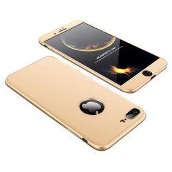 GKK 360 Protection telefon tok telefontok (hátlap) Első és hátsó az egész testet fedő iPhone 8 Plus arany