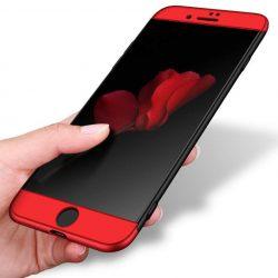 GKK 360 Protection telefon tok telefontok (hátlap) Első és hátsó az egész testet fedő iPhone 8 Plus fekete