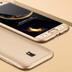 GKK 360 Protection telefon tok hátlap tok elöl és hátul teljes test tok telefon tok Samsung Galaxy J7 2017 J730 arany