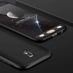 GKK 360 Protection telefon tok hátlap tok elöl és hátul teljes test tok telefon tok Samsung Galaxy J7 2017 J730 fekete