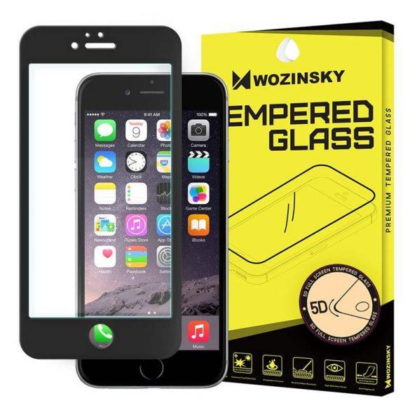Wozinsky PRO + edzett üveg 5D FullGlue Super Tough képernyővédő fólia Teljes Képernyős kerettel iPhone 6S / 6 fekete kijelzőfólia üvegfólia tempered glass