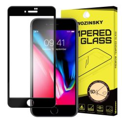 Wozinsky PRO + edzett üveg 5D Teljes Glue Super Tough képernyővédő fólia Teljes Coveraged kerettel iPhone 8 Plus / 7 Plus fekete kijelzőfólia üvegfólia tempered glass