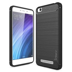 iPaky Slim Carbon rugalmas telefon tok TPU telefon tok telefontok (hátlap) Xiaomi redmi 4A szürke