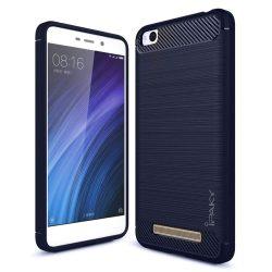 iPaky Slim Carbon rugalmas telefon tok TPU tok telefon tok hátlap Xiaomi redmi 4A kék