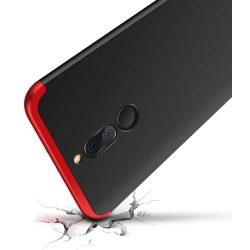 GKK 360 Protection telefon tok hátlap tok elöl és hátul teljes test tok telefon tok Huawei Mate 10 Lite fekete-piros