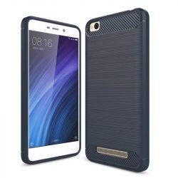 Carbon telefon tok hátlap tok rugalmas Cover TPU tok telefon tok hátlap Xiaomi redmi 4A kék