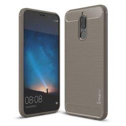 iPaky Slim Carbon rugalmas Cover TPU tok telefon tok hátlap Huawei Mate 10 Lite szürke