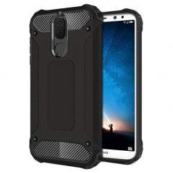 Hibrid Armor telefon tok hátlap tok Ütésálló Robusztus Cover Huawei Mate 10 Lite fekete