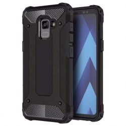 Hibrid Armor telefon tok telefontok (hátlap) tok Ütésálló Robusztus Cover Samsung Galaxy A8 2018 A530 fekete