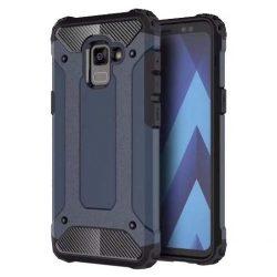 Hibrid Armor telefon tok hátlap tok Ütésálló Robusztus Cover Samsung Galaxy A8 2018 A530 kék