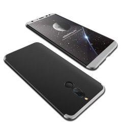 GKK 360 Protection telefon tok hátlap tok Első és hátsó tok telefon tok hátlap az egész testet fedő Huawei Mate 10 Lite fekete-ezüst